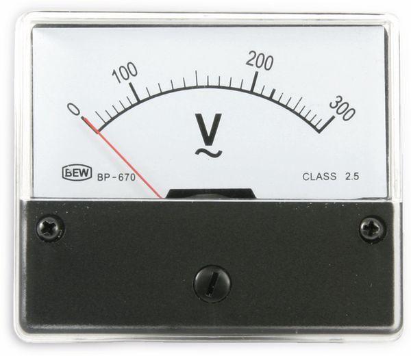 Dreheisen-Einbauinstrument, 0...300 V~