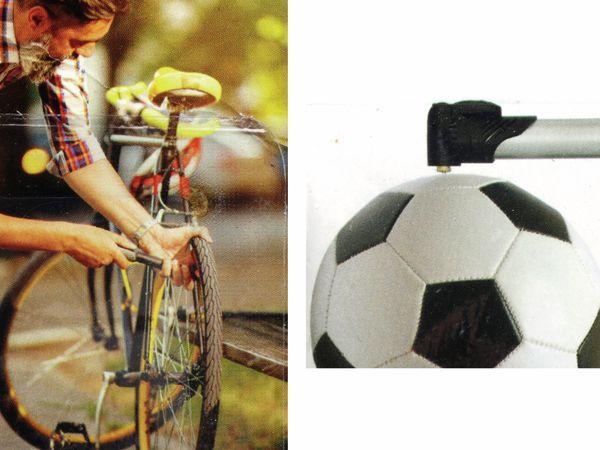 DUNLOP Mini Fahrrad und Ball Luftpumpe mit 3 Adaptern - Produktbild 4
