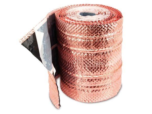 Dach-Kupferband mit 4 Längssicken, 5 m Rolle - Produktbild 1