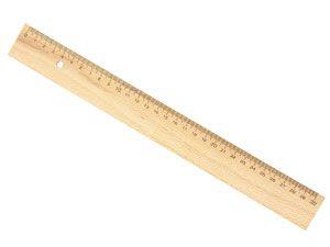 Holzlineal, 300 mm