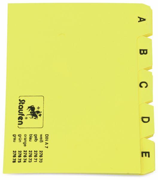 Karteiregister STAUFEN 27671, DIN A7, gelb - Produktbild 2