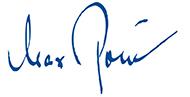 Max Pollin Unterschrift